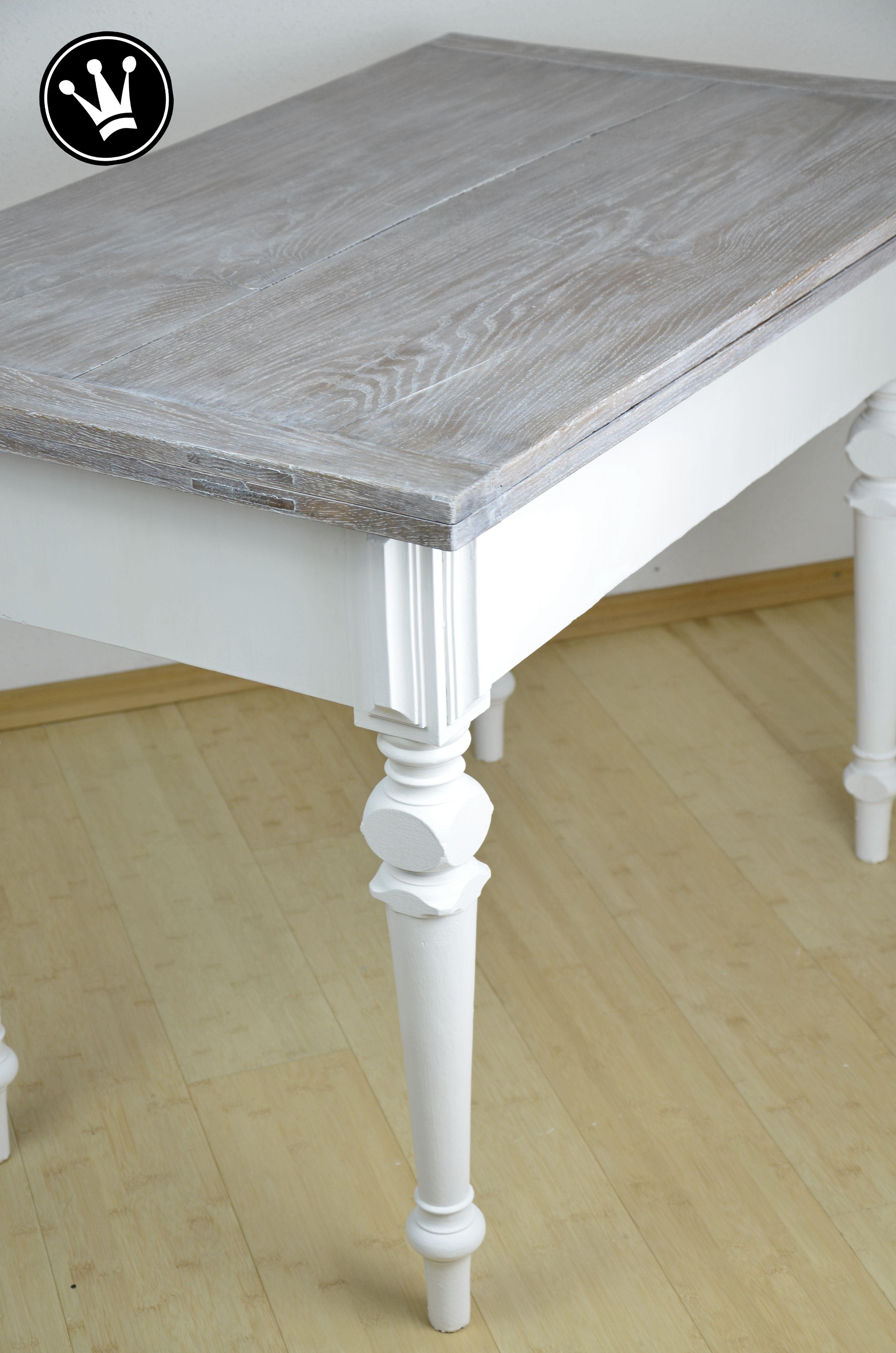 Diy Tisch Mit Kreidefarbe Streichen Tischplatte Mit Der