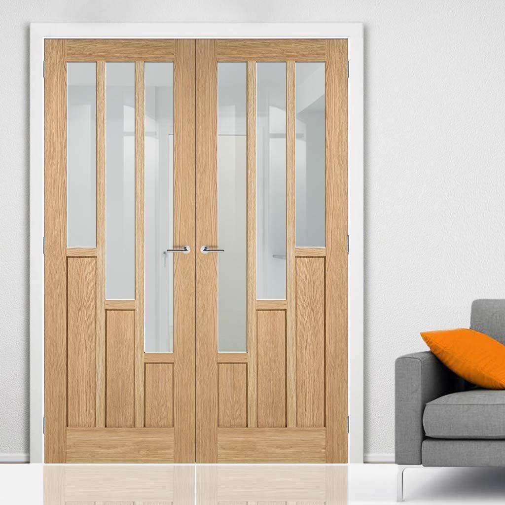 Coventry Oak Door Pair Clear Glass Voordeur Doors