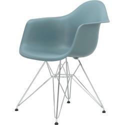 Photo of Eames Plastic Armchair Stuhl Dar mit Filzgleitern ocean neue Maße Vitra
