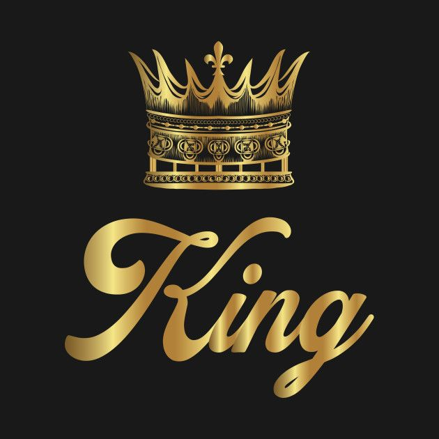 Check out this awesome 'Golden+Crown+Gold+Crowns+Lifestyle+King+Queen+Gift' design on @TeePublic! | Queen wallpaper crown, King crown tattoo,  Iphone wallpaper king