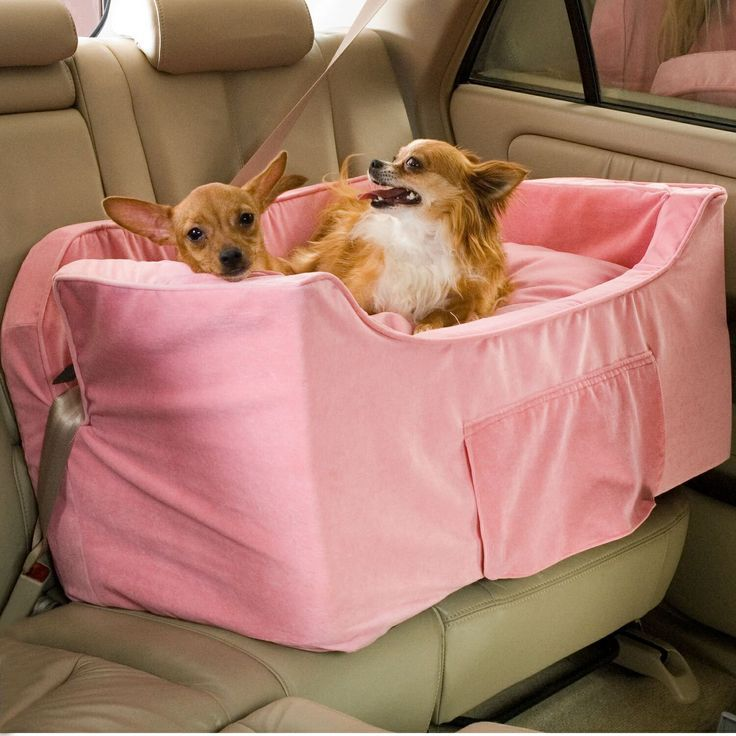 Snoozer Large Luxury Lookout II Pet Car Seat Pink Microsuede Automotive