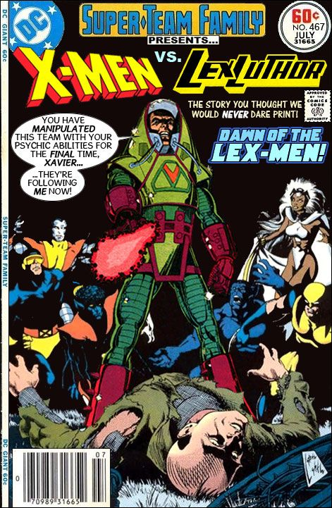 Super Team Family The Lost Issues The X Men Vs Lex Luthor Marvel And Dc Crossover Classic Comics Dc Comic Books