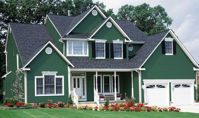 Exterior Paint Colors Combinations Green house painted color kelley green photo - bing images | kelly green