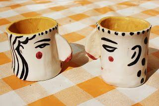 DIADIA, faces  ceramic cups