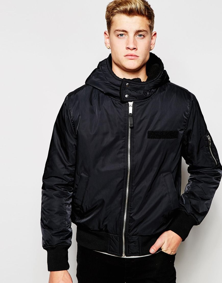 Cheap Monday Bomber Jacket Hooded Nylon | Jackets | Pinterest
