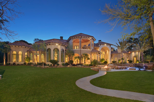Luxury Custom Homes Houston Texas | Stunning Mediterranean Mansion In  Houston, TX | Homes Of The Rich .