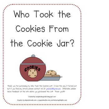 Who Stole The Cookie From The Cookie Jar Book Unique Who Took The Cookies From The Cookie Jar Theme Unit  Camp Inspiration