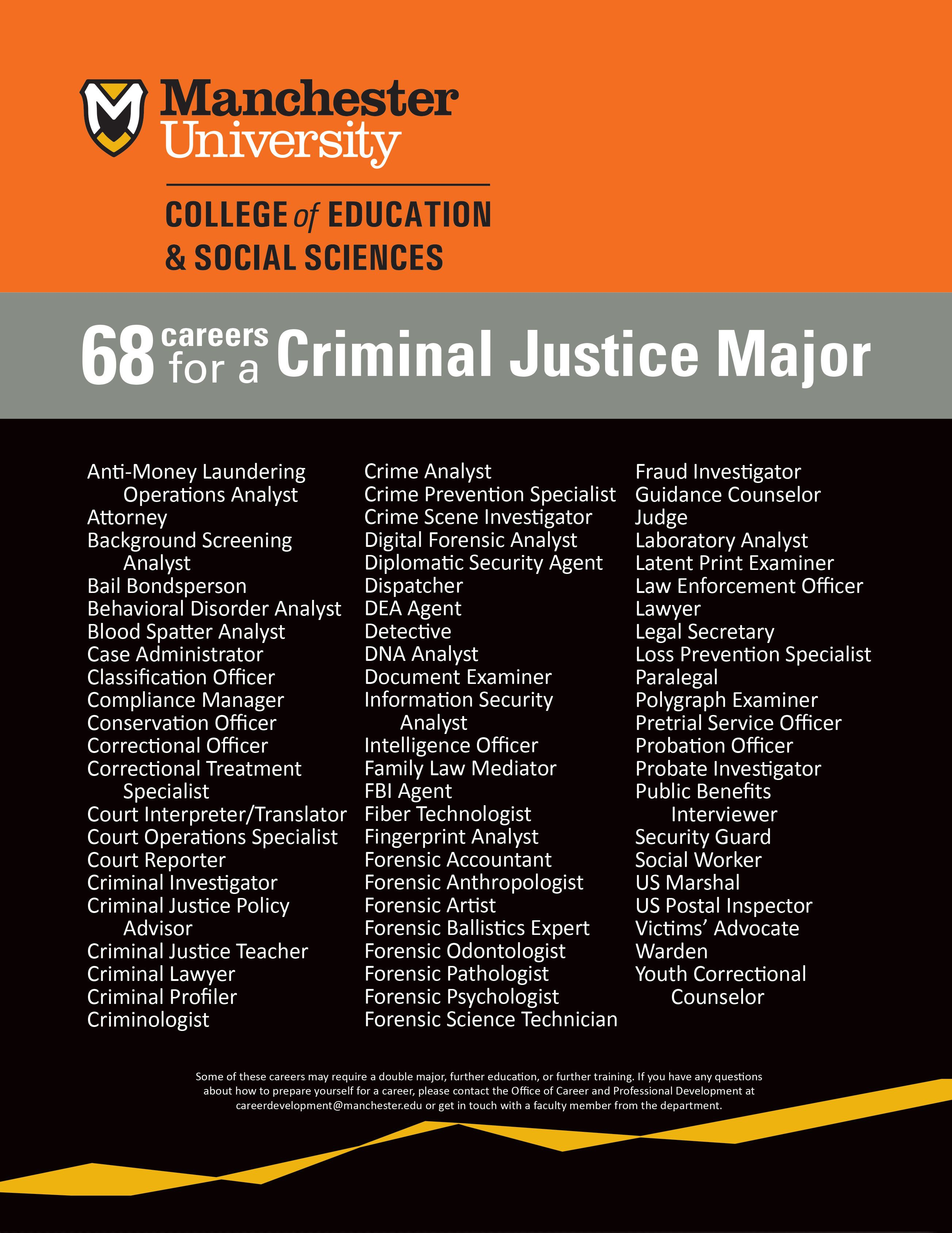 Why Should I Study Criminal Justice 68 Potential Careers