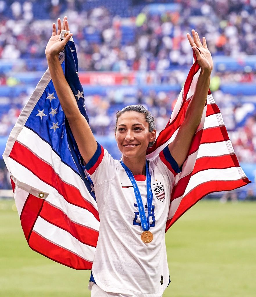 Christen Press Of Usa Celebrates Winning The Final With After The 2019 Fifa Women S World Cup France Final Match Between Uswnt Usa Soccer Women Women S Soccer