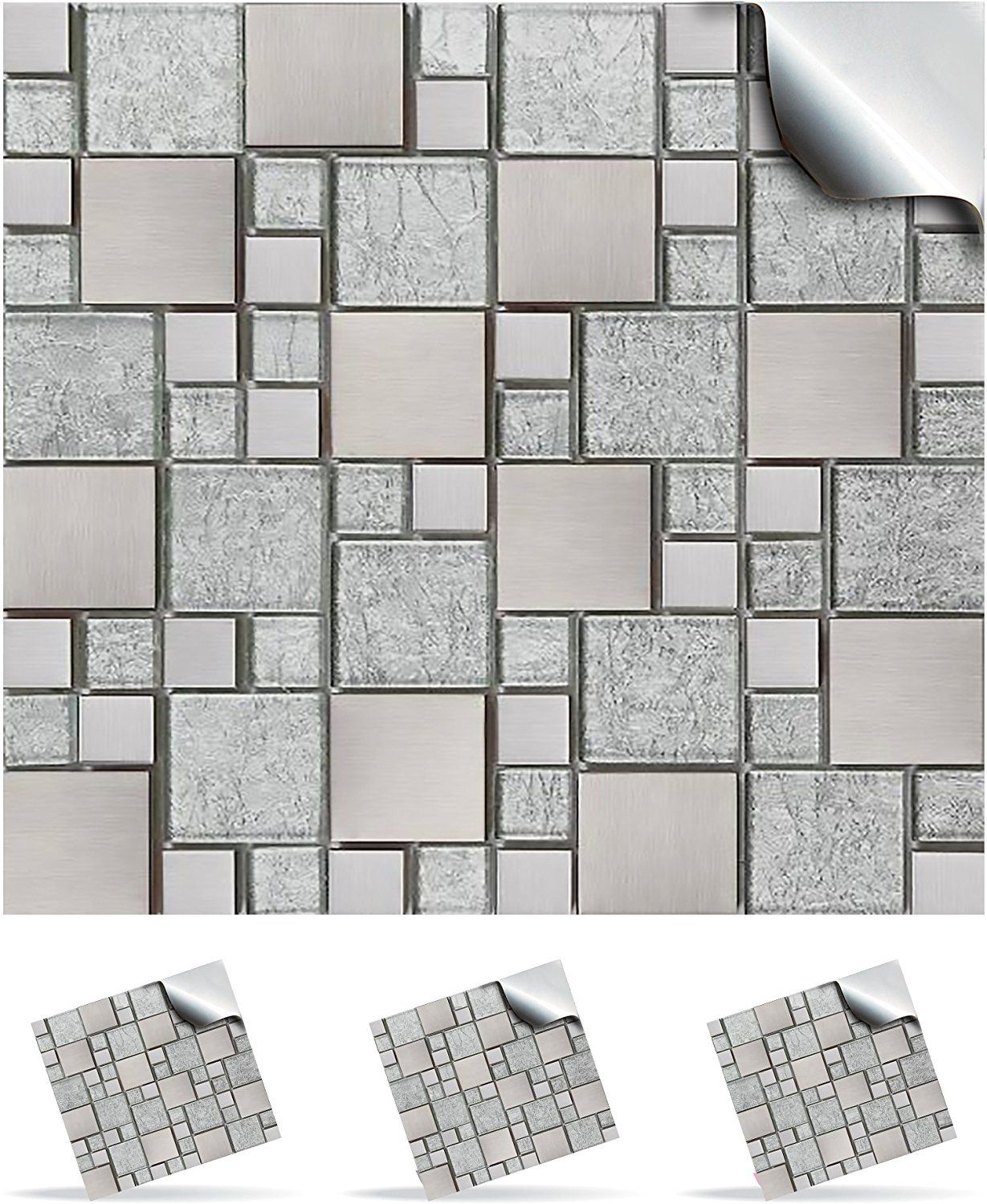 30 Mosaic Wall Tile Stickers For 150mm (6 inch) Square Tiles -(30 ...
