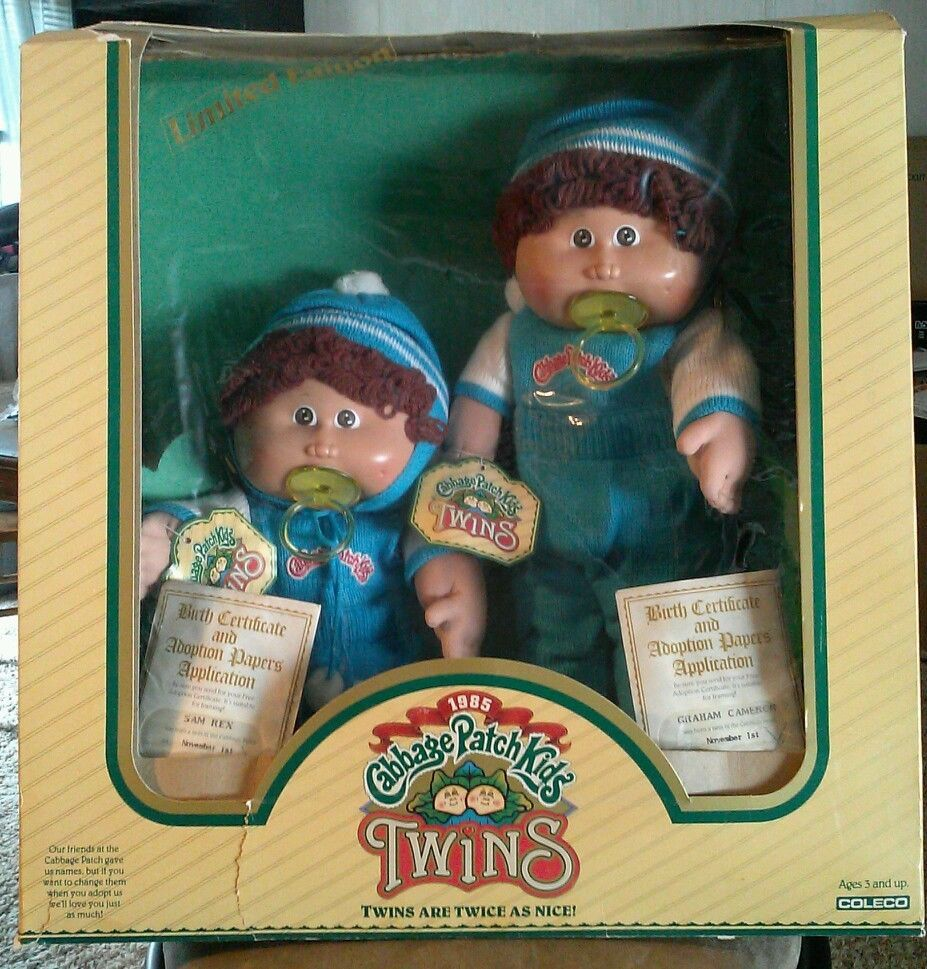 1984 Cabbage Patch Kids Boy Twins Cabbage Patch Kids Dolls Cabbage Patch Dolls 80s Girl Toys