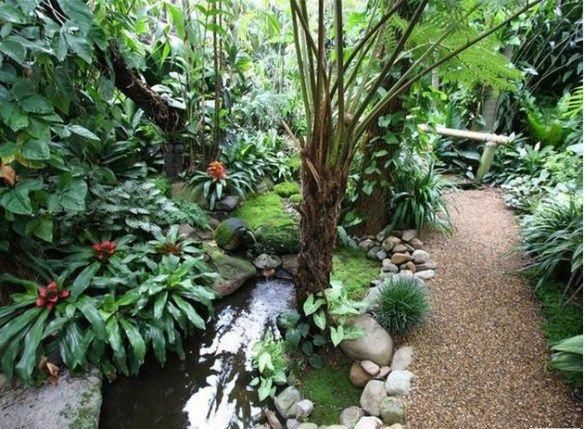 Woodland Garden Design Ideas_50 #tropischelandschaftsgestaltung