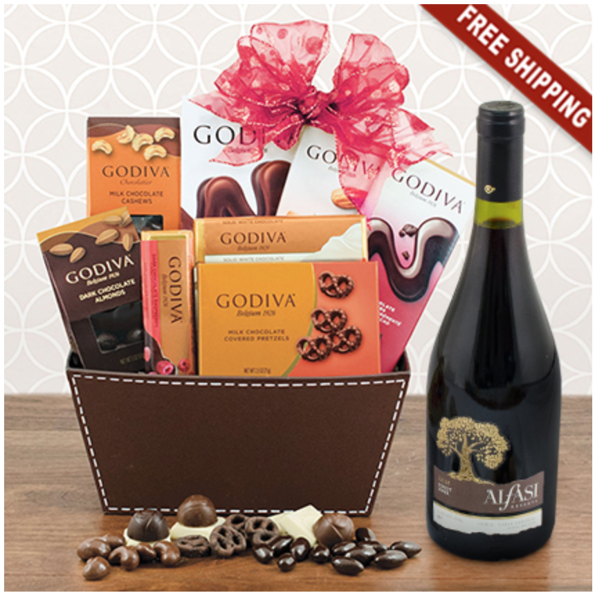 Red Wine And Chocolate Gift Basket Perfect 70th Birthday For Lovers 70tybirthday Giftbasket