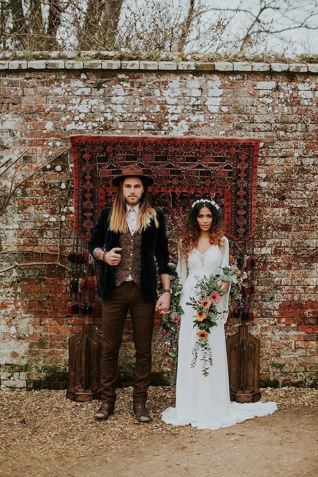 Hippy Flower Child Boho Wedding Bohemian Wedding Inspiration