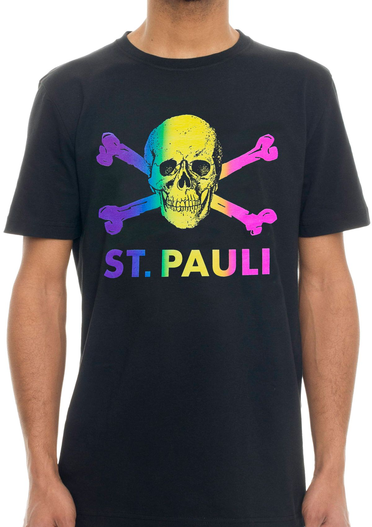 limited st pauli rainbow social shirt hamburg. Black Bedroom Furniture Sets. Home Design Ideas