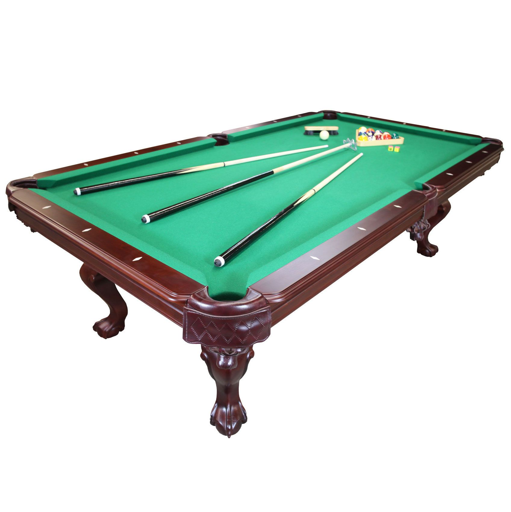 Parisian Nights 8 Ft Pool Table With Green Felt Pool Table Above Ground Pool Kits Swimming Pool Kits