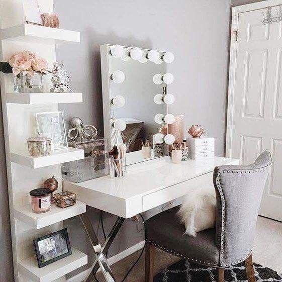 Create A Glamorous Look With Sleek, White Shelving And
