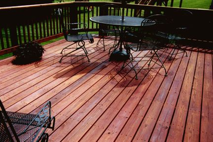 Superdeck Pressure Treated Stain Heart Redwood 2005 Featured On Pressure Treated Wood Http Www Superdeck Com