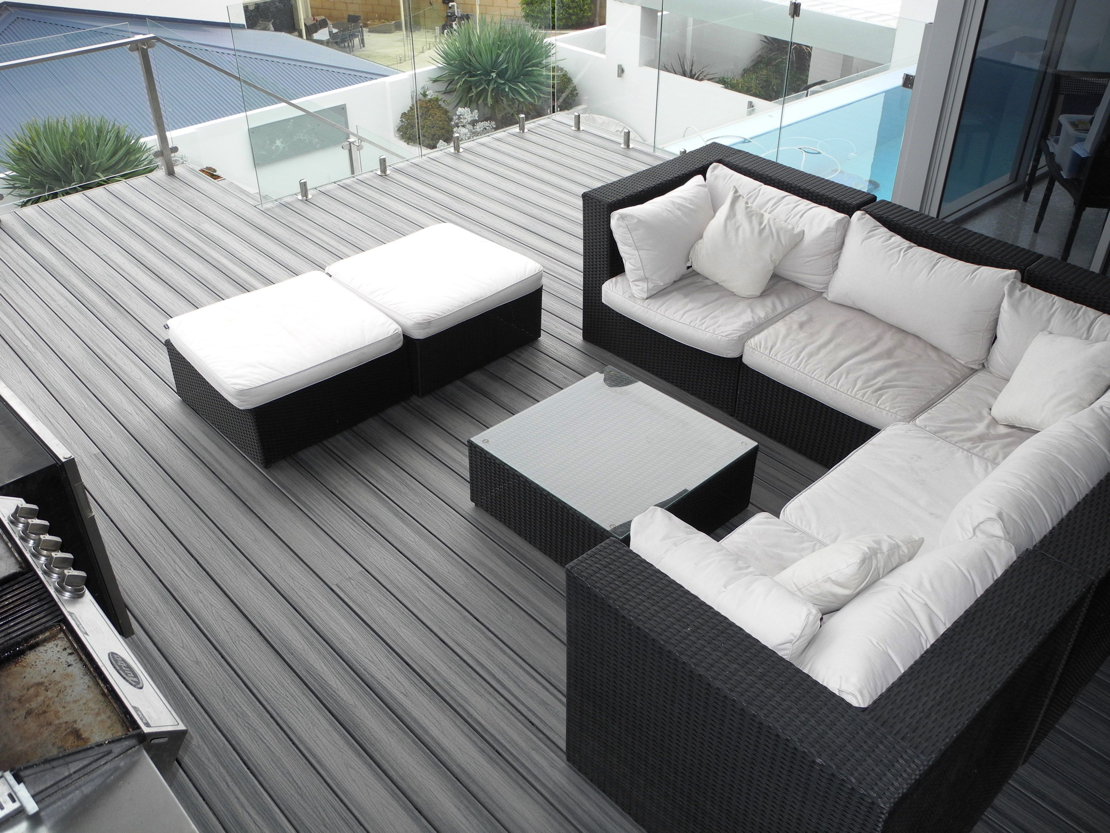 All Style Carpentry built this modern outdoor living space at a