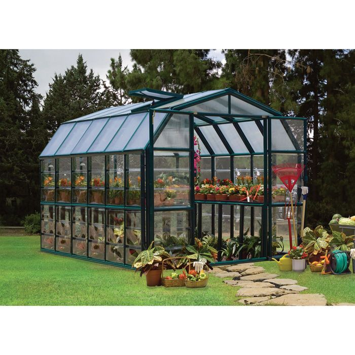 15 Tiny Outdoor Garden Ideas For The Urban Dweller: Rion Grand Gardener 2 Clear Greenhouse 8ft.W X 12ft.L