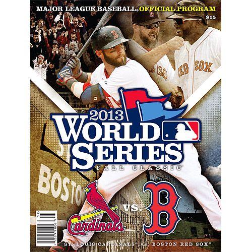 2013 Official Major League Baseball World Series Program ...