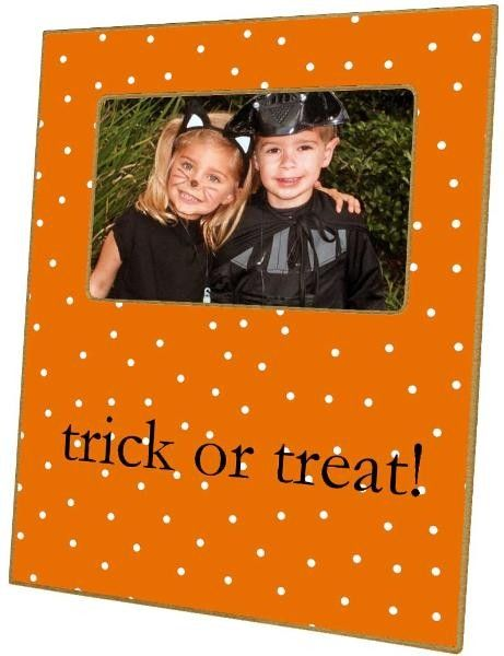 Orange Halloween Dot Decoupage Photo Frame-Can Be Personalized - halloween design