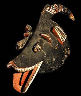 Asian Artifacts antelope mask! african tribal art baule dan masks statues