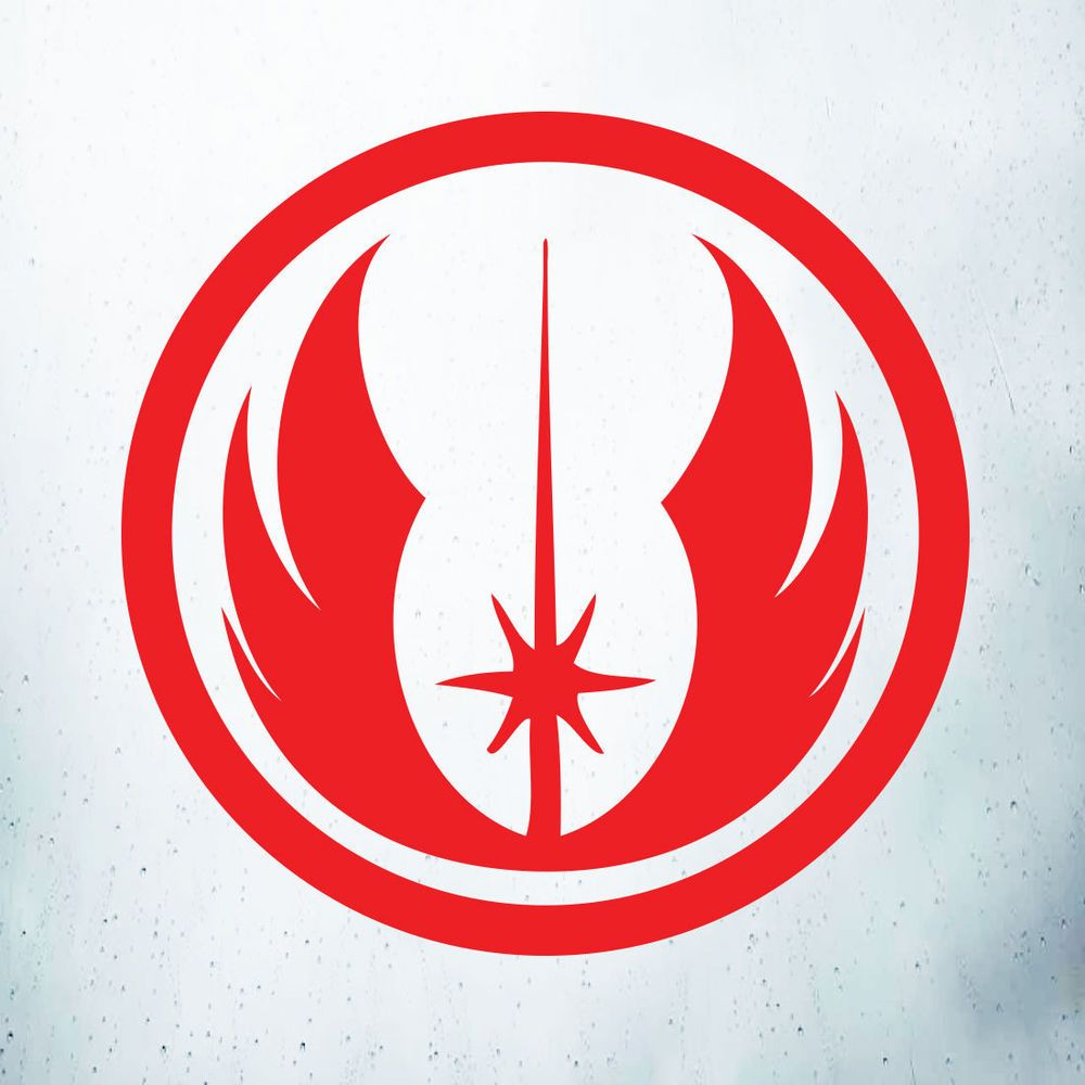 Star wars jedi order logo car laptop wall art window vinyl decal sticker red vds