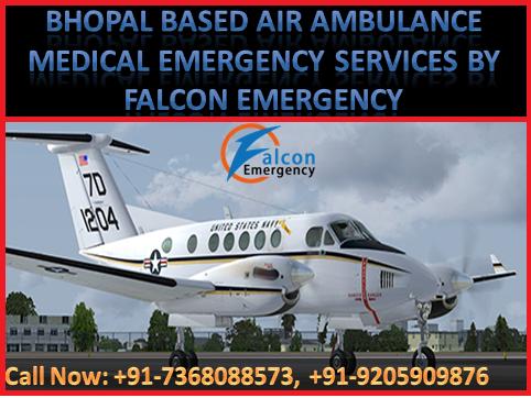 Now Air Ambulance Services in Bhopal, Jabalpur, Nagpur and