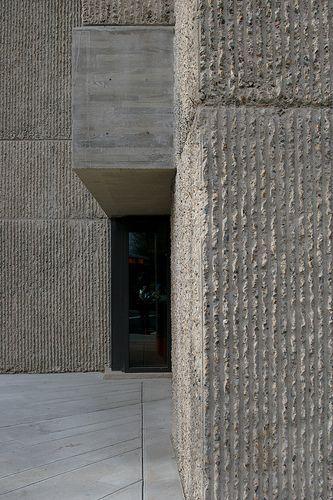 Bush hammered concrete  Forum  Archinect  Container casas en 2019  Concrete architecture
