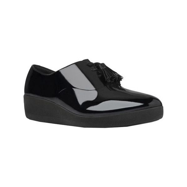 dab170c4ae8b Women s FitFlop Classic Tassel Superoxford Patent - All Black Patent...  ( 130) ❤ liked on Polyvore featuring shoes