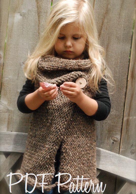 KNITTING PATTERN - Westlynn Wrap (Toddler, Child, Adult sizes ...