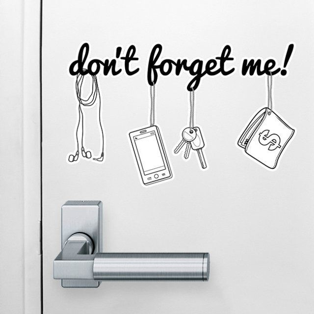 Forgetful much cute reminders for Pixers your walls and stuff