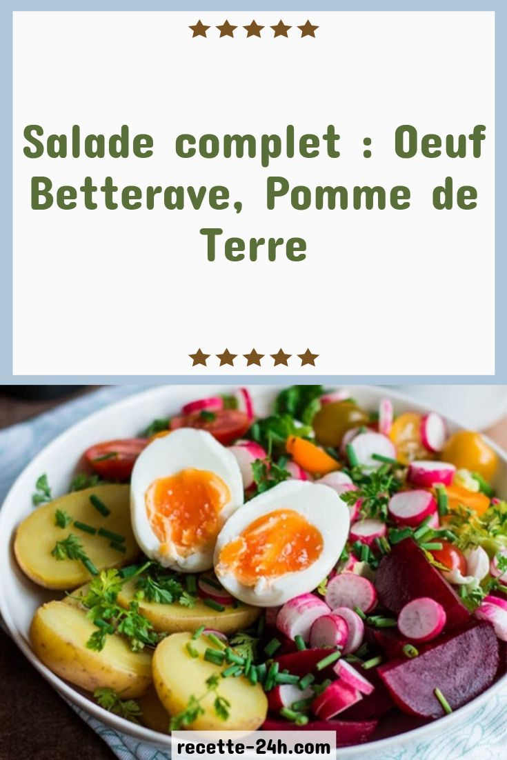Salade Complet Oeuf Betterave Pomme De Terre Healthy Food Bacon