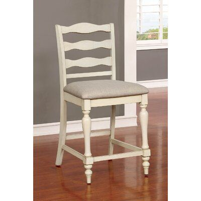 Ophelia Co Wolfforth Ladder Back Dining Chair Solid Wood