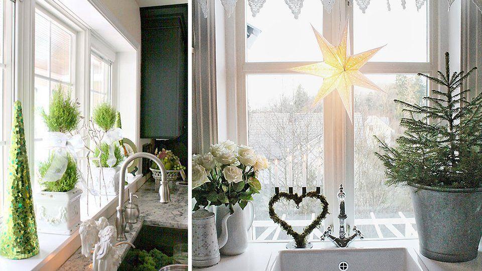 j-21 : je décore ma cuisine pour noël | rebord de fenêtre, rebord