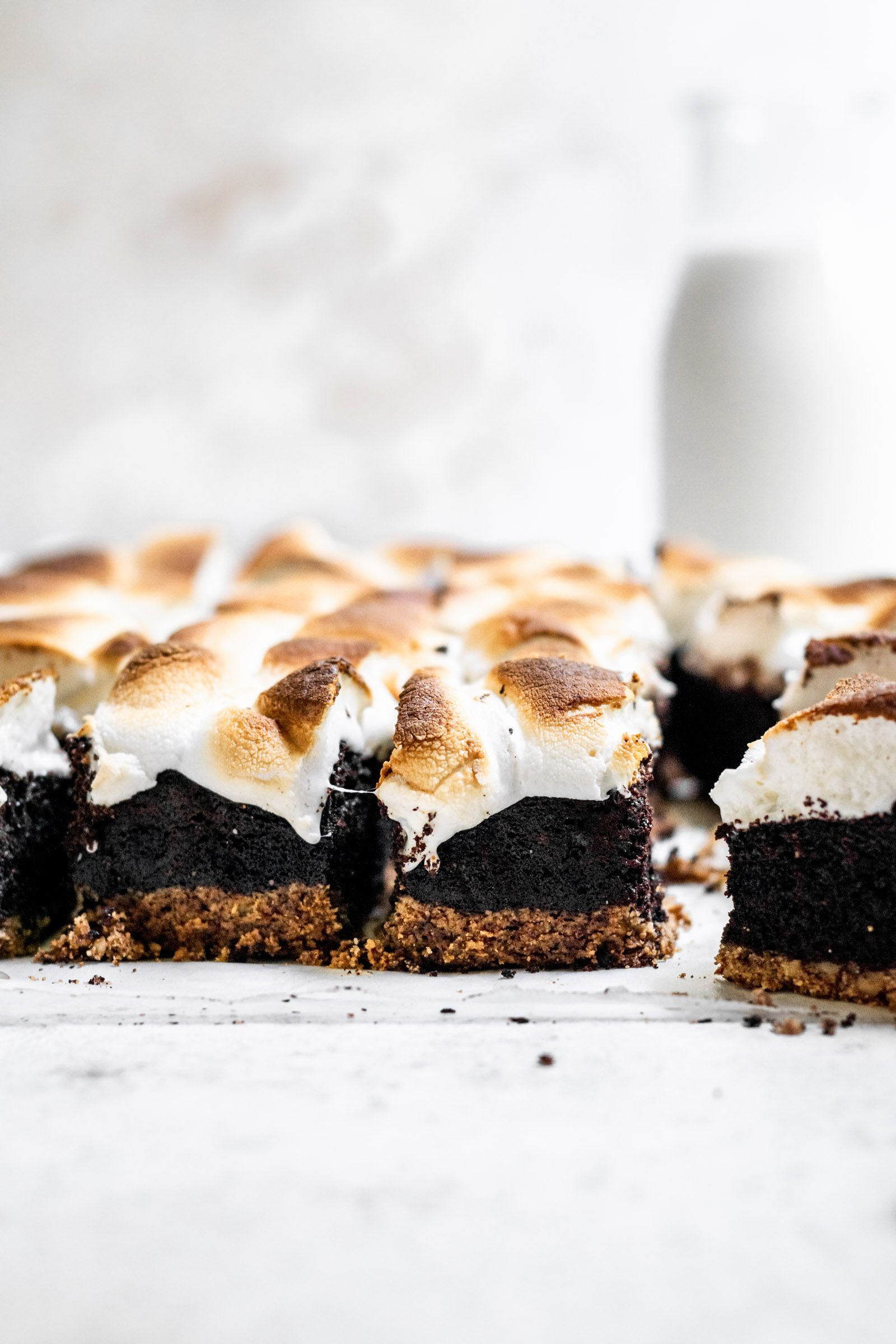 Gluten Free S'mores Brownies (Paleo Option) | Well Fed Soul Gluten Free S'mores Brownies are made w
