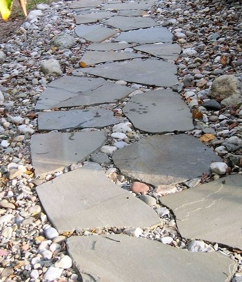 Simple rock landscaping ideas google search from deck for Landscaping rock removal