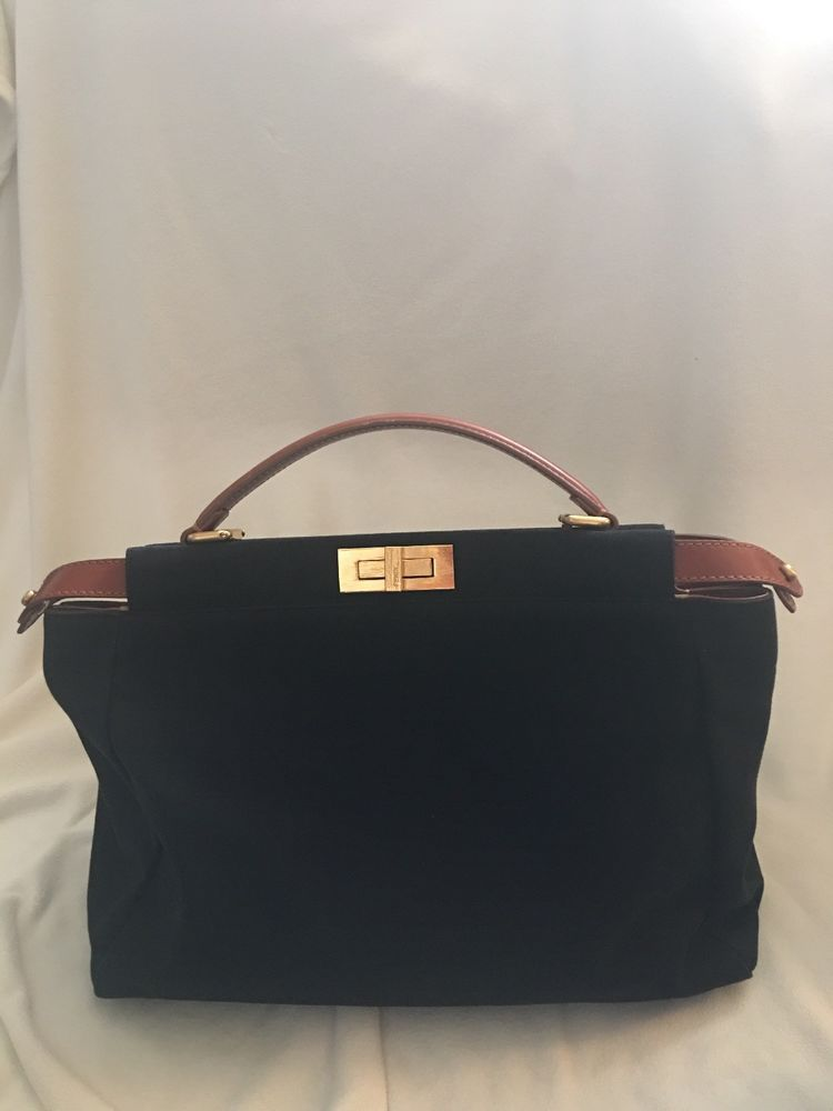 57797faa8790 100% Authentic Fendi Medium Regular Peekaboo Bag Handbag Purse Brown Tan  Toffee  fashion  clothing  shoes  accessories  womensbagshandbags (ebay  link)