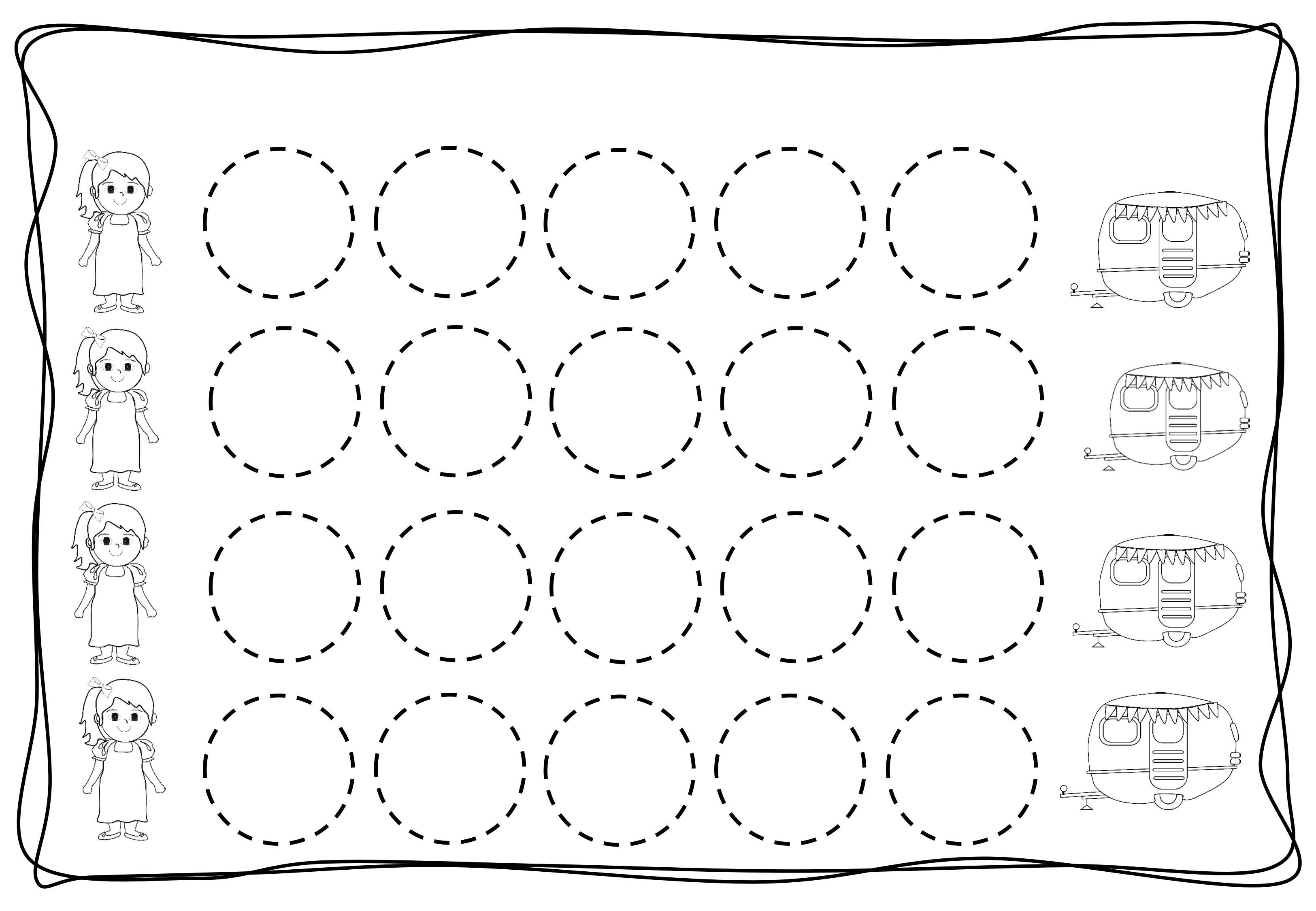 Circles Tracing Worksheets For Kids 8