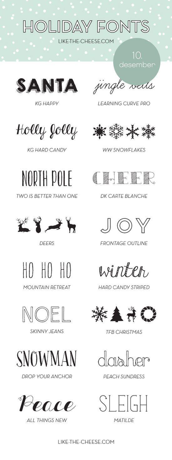 weihnachts schriften f r grusskarten und co weihnachten. Black Bedroom Furniture Sets. Home Design Ideas