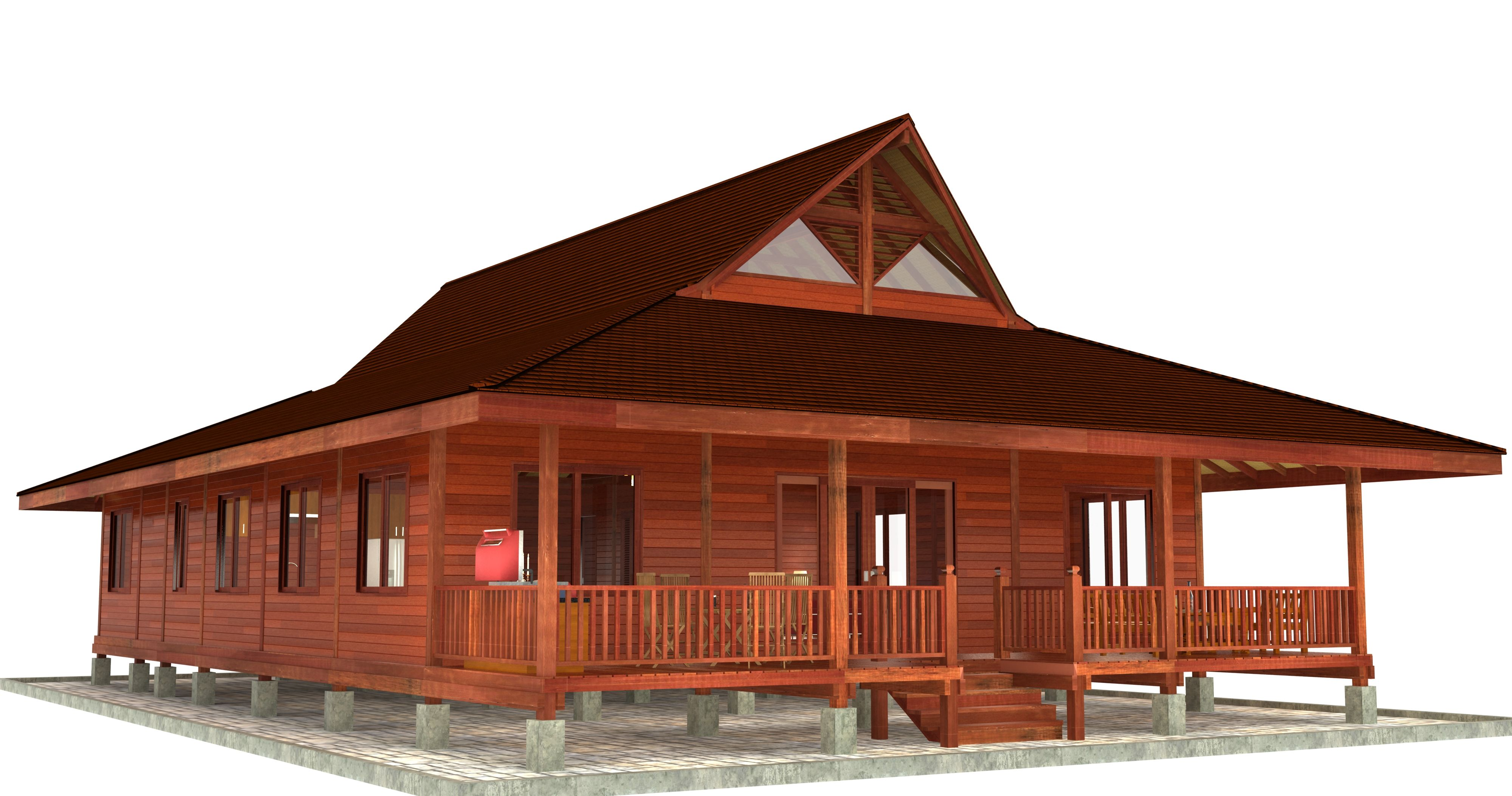 Bali Floor Plans: And as is possible with all Teak Bali models, the Rain Forest Retreat can be altered to our clients tastes in this case with the possibility of adding in a 3rd bedroom.