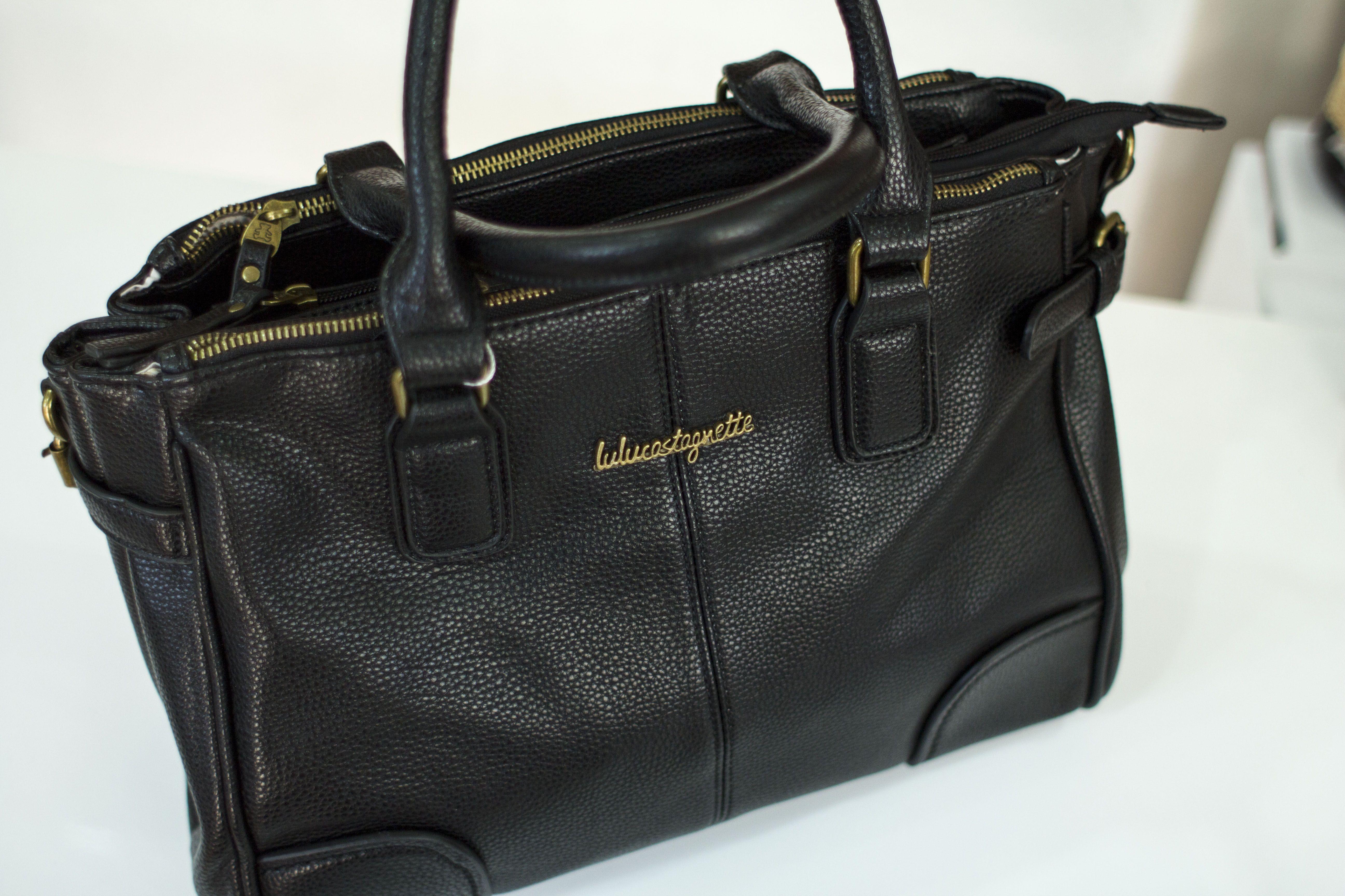 b11dbbab5aeb Sac Lulu Castagnette   cuir noir     ACCESSOIRES     Cuir noir, Cuir ...