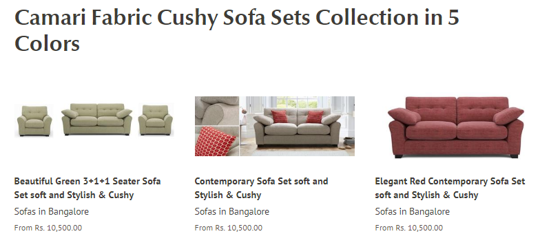 Cushy Sofa Sets Online Sofa Set Sofa Set Online Contemporary Sofa Set