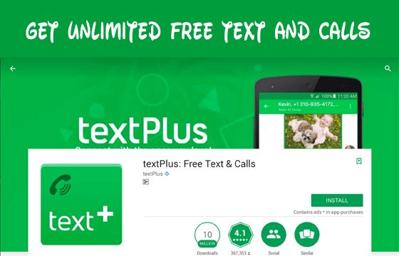 TextPlus Get Unlimited Free Text and Calls US Number