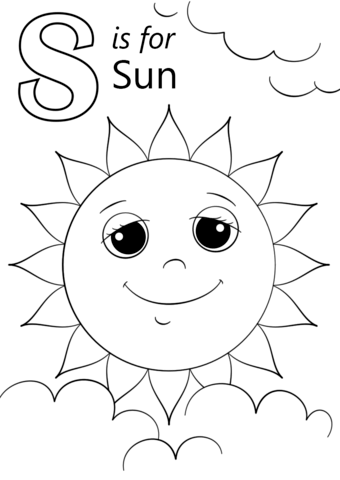 Letter S Is For Sun Coloring Page From Letter S Category Select From 26388 Printable Cr Letter A Coloring Pages Abc Coloring Pages Kindergarten Coloring Pages