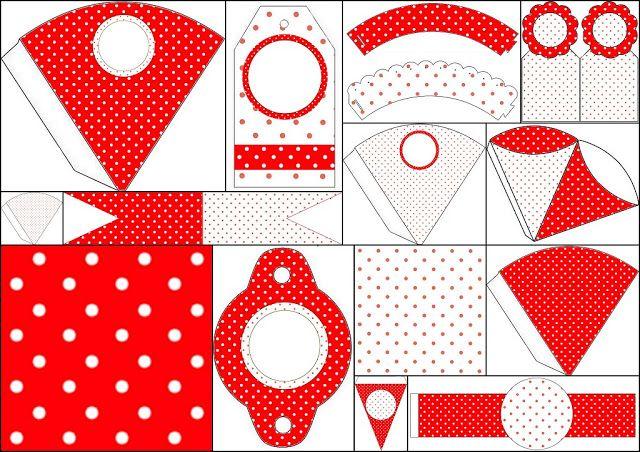 Lunares Rojos y Blancos: Imprimibles Gratis para Fiestas. | Flamenco ...