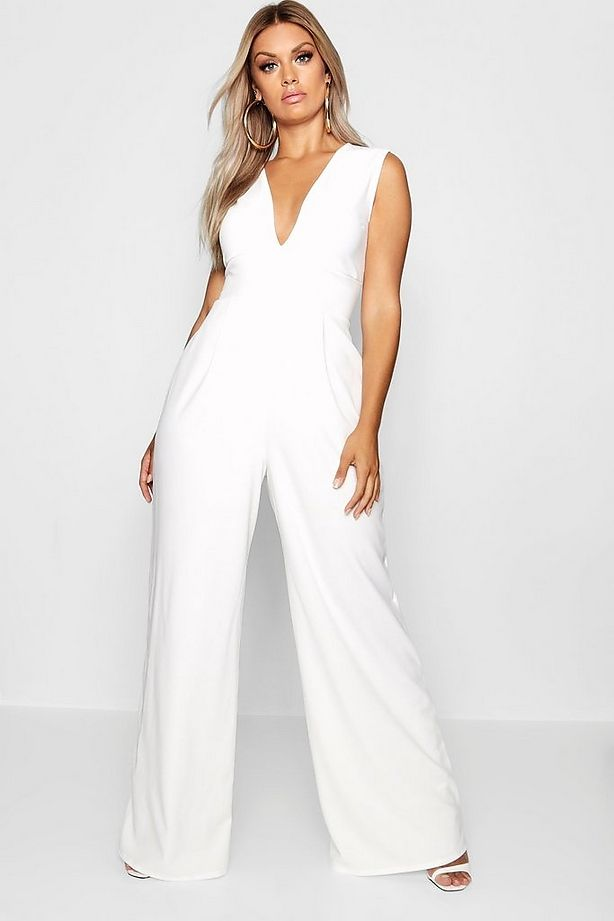 6d047ee74bc74 Click here to find out about the Plus Metallic Wide Leg Trouser from  Boohoo