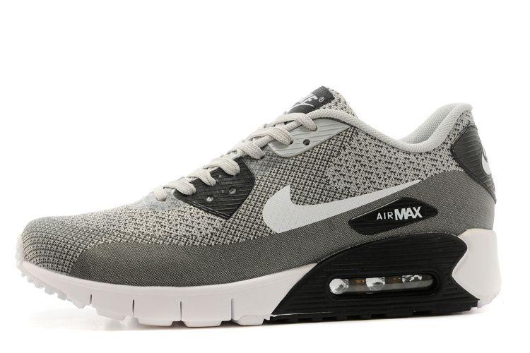 Mens sneakers NK Air Max 90 Jacquard gray / white