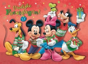 Disney Kersttrui.Kerstkaart Micky En Mini Mous In Kersttrui Disney Pictures